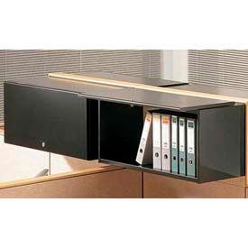 "Compatico CMW 36""W Steel Flipper Door Storage Unit - Black"