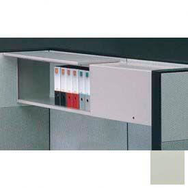 "Compatico CMW 48""W Steel Flipper Door Storage Unit - Metallic Silver"