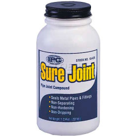 Sure Joint™ Pipe Joint Sealant, Grey- Non-Hardening, 1/2 Pt. - Pkg Qty 24