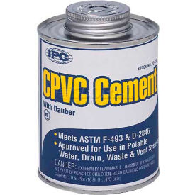 Low V.O.C. Cpvc Cement™, For Pipe & Fittings, 1/2 Pt. - Pkg Qty 24