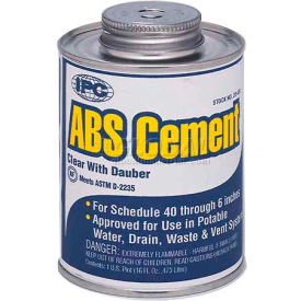 Low V.O.C. Abs Cement™, For Pipe & Fittings, 1 Qt. - Pkg Qty 12