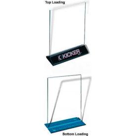 "T-Style Acrylic Signholder, Top Loading, 8-1/2""W X 11""H"