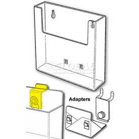 "Wall-Mount Literature Holder, Acrylic, 9""L X 10-1/4""W X 1-3/4""H"