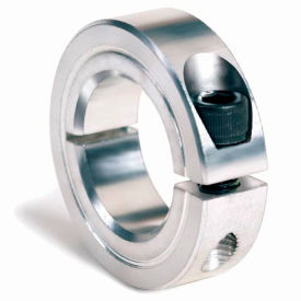 "One-Piece Clamping Collar, 1-1/8"", Zinc Plated Steel"
