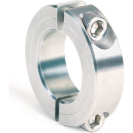 """Two-Piece Clamping Collar, 1/4"""", Zinc Plated Steel"""