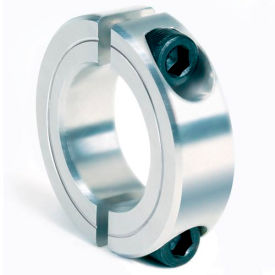 "Two-Piece Clamping Collar, 9/16"", Aluminum"