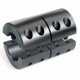 """Two-Piece Clamping Couplings Recessed Screw, 1-3/8"""", Black Oxide Steel"""