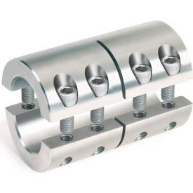 "Two-Piece Industry Standard Clamping Couplings, 1/2"", Stainless Steel"