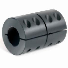 "1-Piece Clamping Couplings Recessed Screw, 1-1/8"", Black Oxide Steel"
