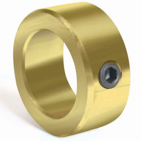 "Corrosion Resistant Set Screw Collar CR, 3/8"", Yellow Zinc Dichromate"