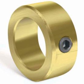 "Corrosion Resistant Set Screw Collar CR, 7/16"", Yellow Zinc Dichromate"