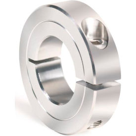 "One-Piece Clamping Collar Recessed Screw, 7/16"", Stainless Steel"