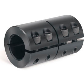 "One-Piece Industry Standard Clamping Couplings, 3/8"", Black Oxide Steel"