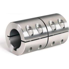 "One-Piece Industry Standard Clamping Couplings w/Keyway, 1/2"", Stainless Steel"