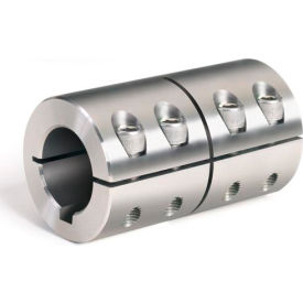 "One-Piece Industry Standard Clamping Couplings w/Keyway, 1-1/2"", Stainless Steel"
