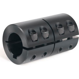 "One-Piece Industry Standard Clamping Couplings w/Keyway, 2"", Black Oxide Steel"