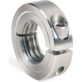 One-Piece Threaded Clamping Collar, Stainless Steel, ISTC-037-24-S
