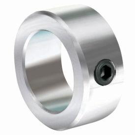 "Lightweight Set Screw Collar L, 7/16"", Zinc Plated Steel"