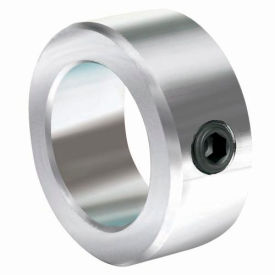 "Lightweight Set Screw Collar L, 1-1/4"", Zinc Plated Steel"
