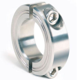Metric Two-Piece Clamping Collar, 21mm, Stainless Steel