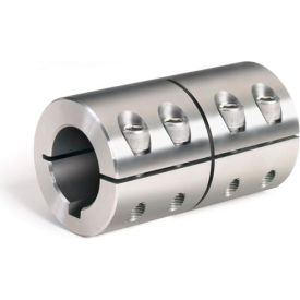 Metric One-Piece Standard Clamping Couplings w/Keyway, 16mm, Stainless Steel