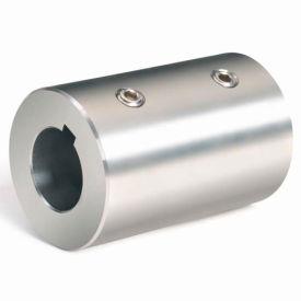 "Set Screw Coupling w/Keyway, 7/8"", Stainless Steel With Keyway, RC-087-S-KW"