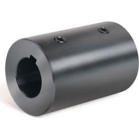 """Set Screw Coupling w/Keyway, 1-1/4"""", Black Oxide Steel With Keyway, RC-125-KW"""