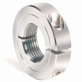 One-Piece Threaded Clamping Collar Recessed Screw, Stainless Steel, TC-075-10-S