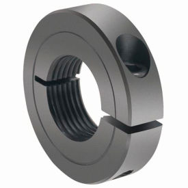 One-Piece Threaded Clamping Collar Recessed Screw, Black Oxide Steel, TC-100-08