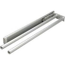 Hafele Silver Finish 2 Bar Towel Rack 510.54.921 by