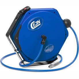 "Cejn® Compressed Air PUR Hose, Reel, 3/8"" X 46, 1/4"" Male NPT Connection"