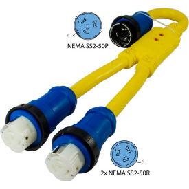 Conntek 17518, 3', 50A, 6/4C STOW Marine Shore Power Y Adapter