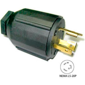 Conntek 60307, 20-Amp Locking Assembly Plug with NEMA L5-20P Male End