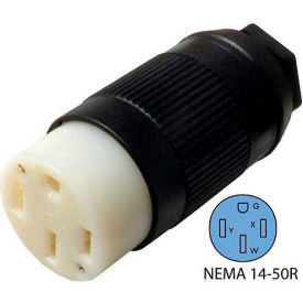Conntek 60839-00, 50-Amp Assembly RV Connector with NEMA 14-50R Female End