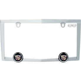 Cruiser Accessories Cadillac Emblem License Plate Frame, Chrome - 10330