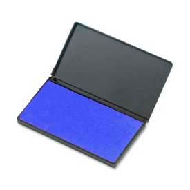 """CLI® Stamp Pad, 2-3/4"""" x 4-1/4"""", Nontoxic, Reinkable, Blue"""