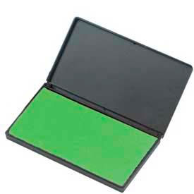"""CLI® Stamp Pad, 2-3/4"""" x 4-1/4"""", Nontoxic, Reinkable, Green"""
