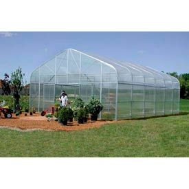 Majestic Greenhouse 28'W x 96'L w / Top / Side / Polycarbonate