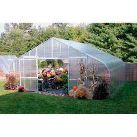34x12x96 Solar Star Greenhouse w/Poly Ends and Drop-Down Sides, Gas Heater