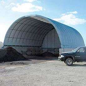 Econoline Storage Building 30'W x 15'H x 60'L White Pony Wall