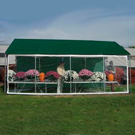 WeatherShield Commercial Canopy 14'W x 40'L Green