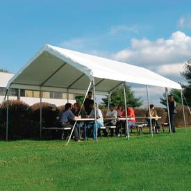 WeatherShield Commercial Canopy 18'W x 60'L Tan
