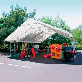 WeatherShield Giant Commercial Canopy 24'W x 50'L Tan