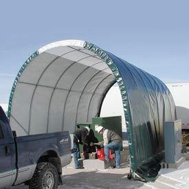 SolarGuard Freestanding Building 14'W x 14'H x 28'L on Wheels Tan