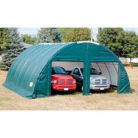 Storage Master Classic Plus Garage 26'W x 12'H x 24'L Green