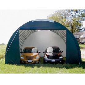 SolarGuard Oversized Garage 20'W x 12'H x 36'L Green
