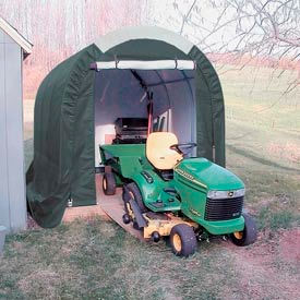 Mini Garage/Storage Shed 8'W x 8'H x 12'L Tan