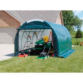 Mini Garage/Storage Shed 10'W x 8'H x 18'L Green by