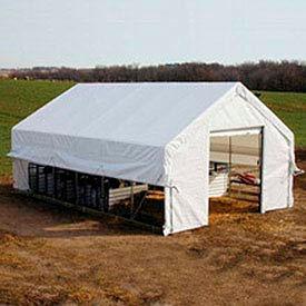 Moo-Tel Calf Nursery w/ Open Ends 26'W x 24'L White