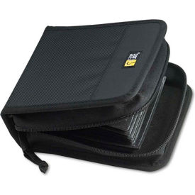 CD/DVD Wallet with Prosleeve Pockets, 32-disc Capacity, Black Nylon